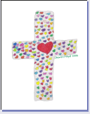 Cross with Hearts...Inside Blank